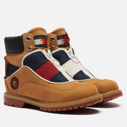 Женские ботинки Timberland x Tommy Hilfiger Heritage EK+ Waterproof Wheat Nubuck