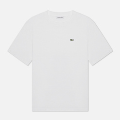 Женская футболка Lacoste Crew Neck Premium Cotton White