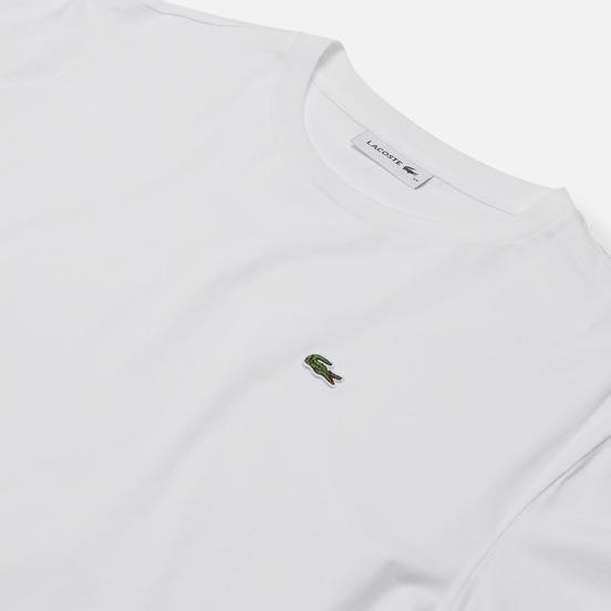 Женская футболка Lacoste Crew Neck Premium Cotton White