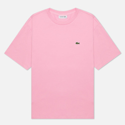Женская футболка Lacoste Crew Neck Premium Cotton Pink