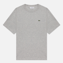 Женская футболка Lacoste Crew Neck Premium Cotton Grey Chine