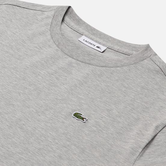 Женская футболка Lacoste Crew Neck Premium Cotton Grey Chine
