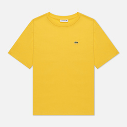Женская футболка Lacoste Crew Neck Premium Cotton Wasp Yellow