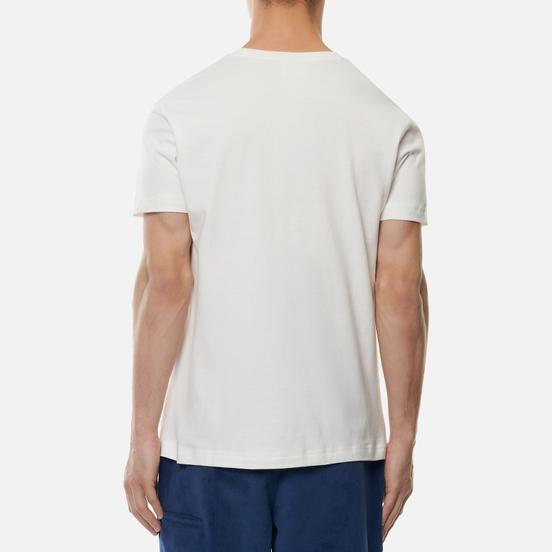 Мужская футболка Lacoste Live Oversized Crocodile Print White