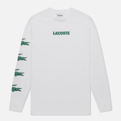 Мужской лонгслив Lacoste Sport Crocodile Print White