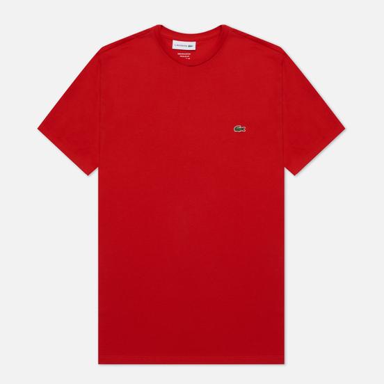 Мужская футболка Lacoste Crew Neck Pima Cotton Red