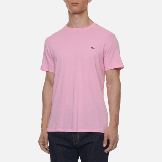 Мужская футболка Lacoste Crew Neck Pima Cotton Light Pink