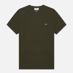 Мужская футболка Lacoste Crew Neck Pima Cotton Khaki Green