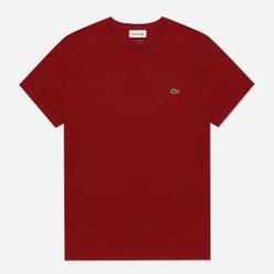 Мужская футболка Lacoste Crew Neck Pima Cotton Bordeaux
