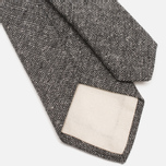Мужской галстук The Hill-Side Herringbone Tweed Pointed Grey фото- 3