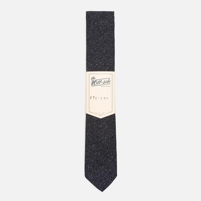 Мужской галстук The Hill-Side Herringbone Tweed Pointed Navy