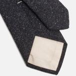 Мужской галстук The Hill-Side Herringbone Tweed Pointed Navy фото- 3