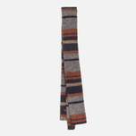 The Hill-Side Wool Blend Stripe Square-End Men's Tie Grey/Navy photo- 2