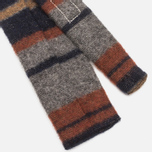 The Hill-Side Wool Blend Stripe Square-End Men's Tie Grey/Navy photo- 3
