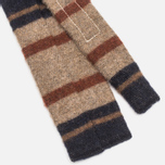 The Hill-Side Wool Blend Stripe Square-End Men's Tie Tan/Navy photo- 3