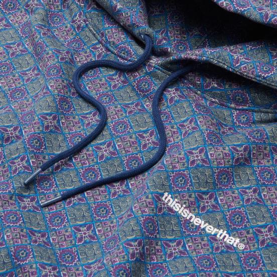Мужская толстовка thisisneverthat Tile Hooded Blue/Purple