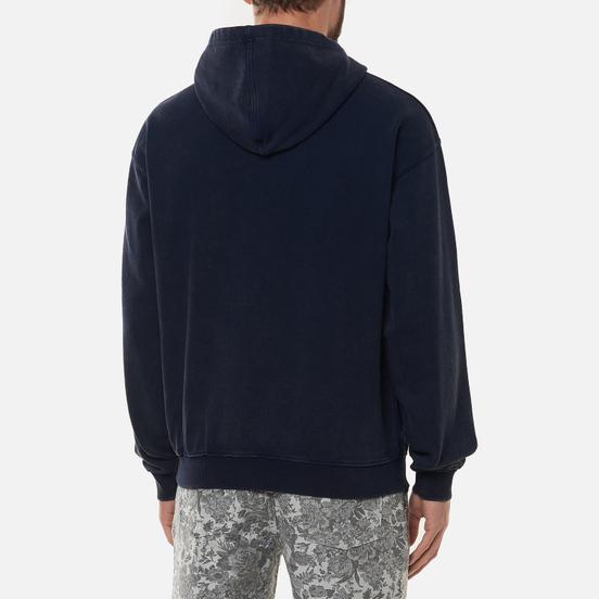 Мужская толстовка thisisneverthat Washed Embroidery Hoodie Dark Navy