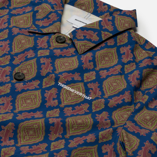 Мужское пальто thisisneverthat Moroccan Overcoat Blue