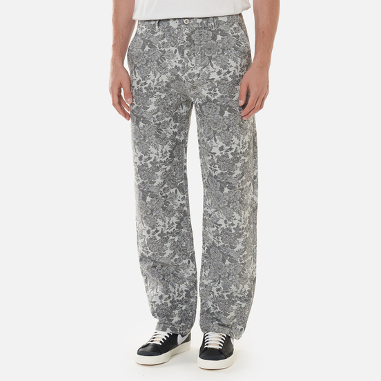 Мужские брюки thisisneverthat Floral Jacquard Grey