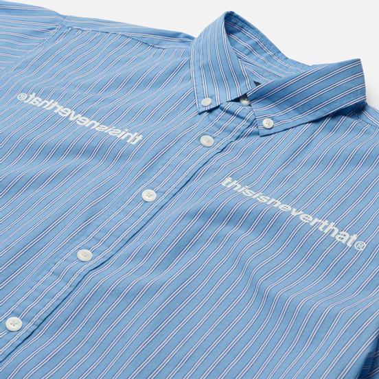 Мужская рубашка thisisneverthat MI-Logo Striped Blue
