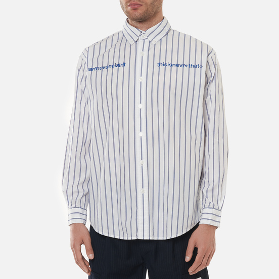 Мужская рубашка thisisneverthat MI-Logo Striped White