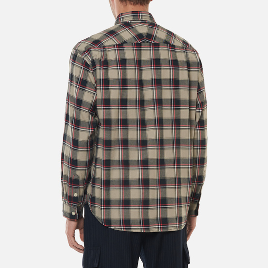 Мужская рубашка thisisneverthat Plaid Twill Greenish Black