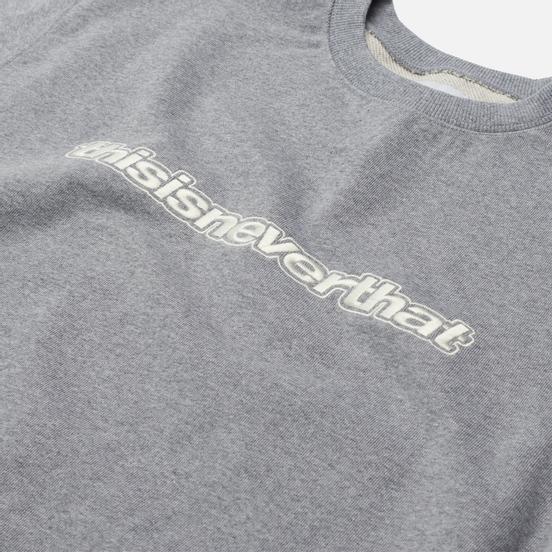 Мужская толстовка thisisneverthat ESP-Logo Crewneck Heather Grey
