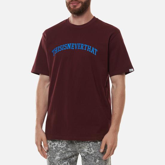 Мужская футболка thisisneverthat ARC Logo Burgundy