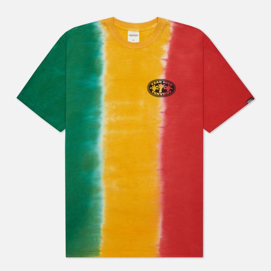 Мужская футболка thisisneverthat Vertical Tie Dye Green/Yellow/Red