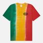Мужская футболка thisisneverthat Vertical Tie Dye Green/Yellow/Red фото - 0