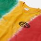 Мужская футболка thisisneverthat Vertical Tie Dye Green/Yellow/Red фото - 1