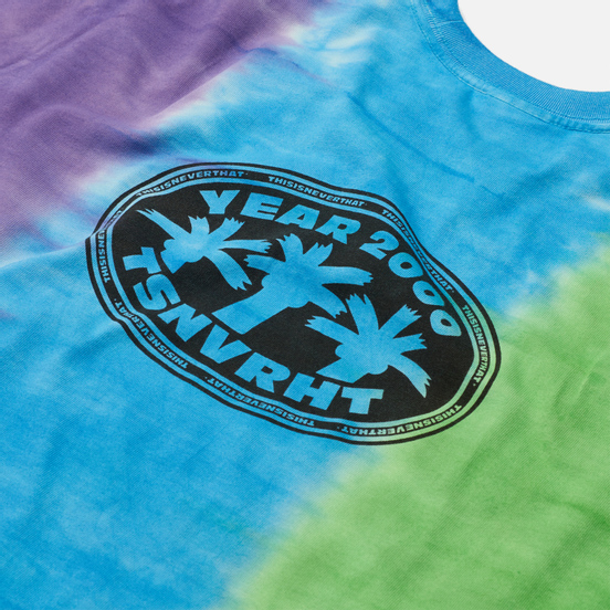 Мужская футболка thisisneverthat Vertical Tie Dye Green/Blue/Purple