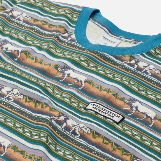 Мужская футболка thisisneverthat Printed Lion Stripe Multicolor 2