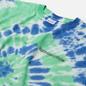 Мужская футболка thisisneverthat Tie Dye Green/Violet фото - 1