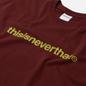 Мужская футболка thisisneverthat T-Logo Burgundy фото - 1