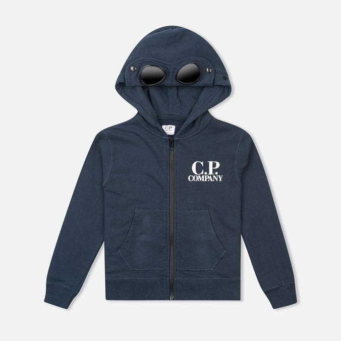 C.P. Company U16 Emerized Goggle Children's Hoody Blue