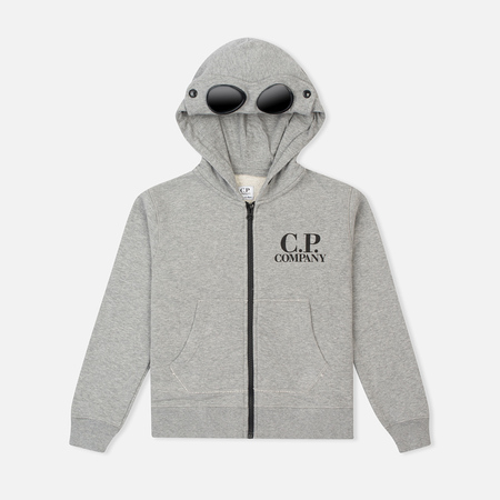 C.P. Company U16 Emerized Goggle Children's Hoody Grey