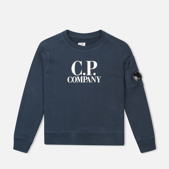 Детская толстовка C.P. Company U16 Printed Cotton Blue