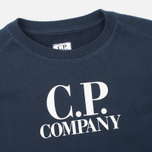 Детская толстовка C.P. Company U16 Printed Cotton Blue фото- 1