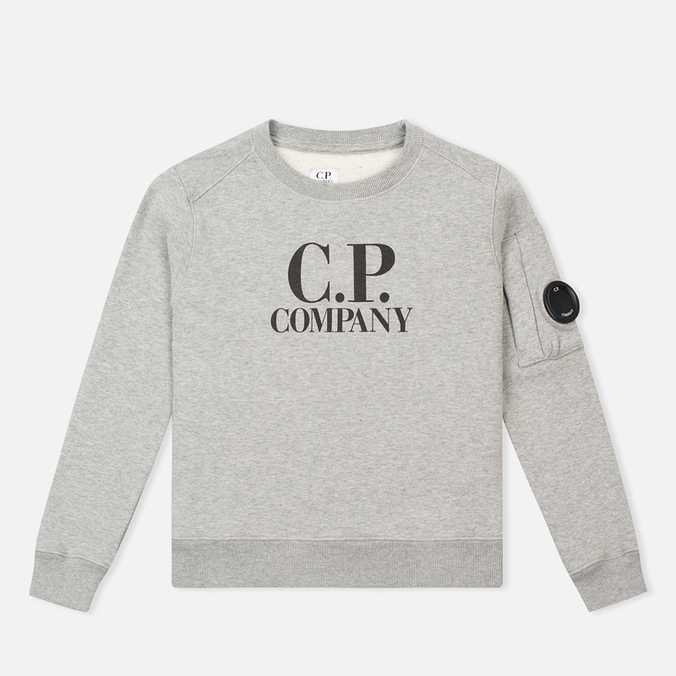 Детская толстовка C.P. Company U16 Printed Cotton Grey