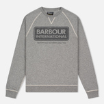 Мужская толстовка Barbour International Logo Reglan Grey Marl фото- 0