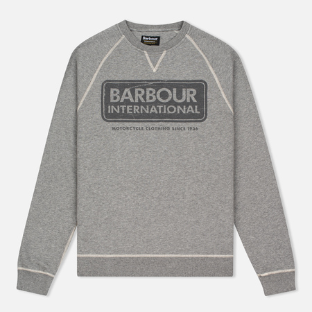 Мужская толстовка Barbour International Logo Reglan Grey Marl