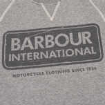 Мужская толстовка Barbour International Logo Reglan Grey Marl фото- 3
