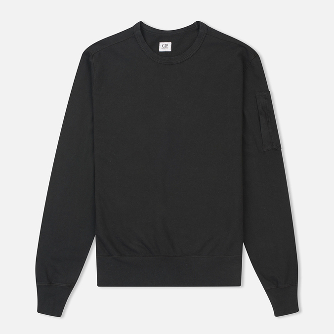 Мужская толстовка C.P. Company Round Neck Fleece Lens Pocket Black
