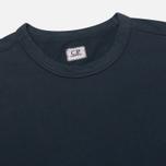 Мужская толстовка C.P. Company Round Neck Fleece Lens Pocket Navy фото- 1