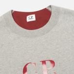Мужская толстовка C.P. Company Logo Grey Melange фото- 1