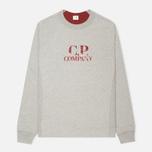 Мужская толстовка C.P. Company Logo Grey Melange фото- 0