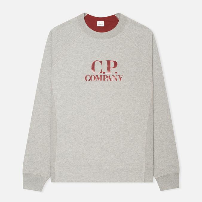 Мужская толстовка C.P. Company Logo Grey Melange
