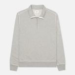 Мужская толстовка C.P. Company Zip Garment Dyed Grey Melange фото- 0