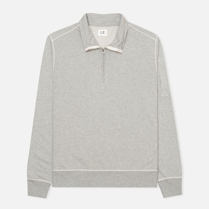 Мужская толстовка C.P. Company Zip Garment Dyed Grey Melange